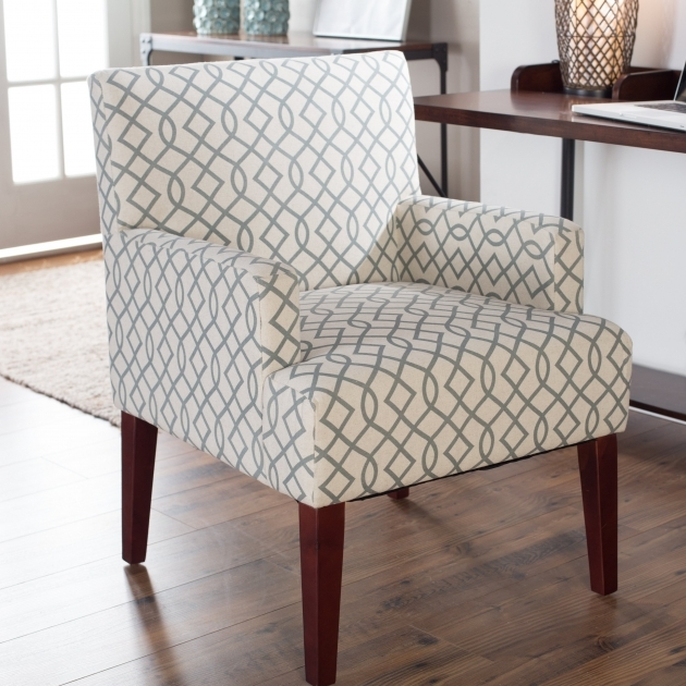 Luxury Grey Patterned Accent Chair Pic