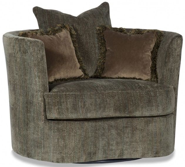 Luxury Round Swivel Accent Chair Photo