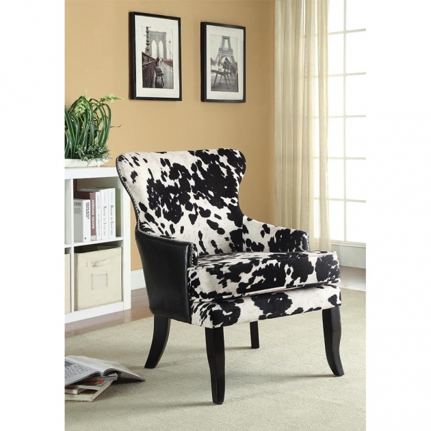 Marvelous Cowhide Accent Chair Pic