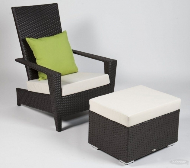 Marvelous Patio Chair With Hidden Ottoman Pics