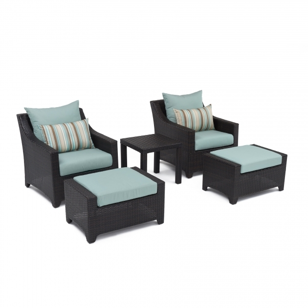 Marvelous Patio Chairs With Ottomans Photo