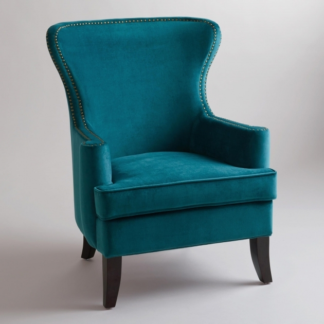 Marvelous Peacock Blue Accent Chair Photo