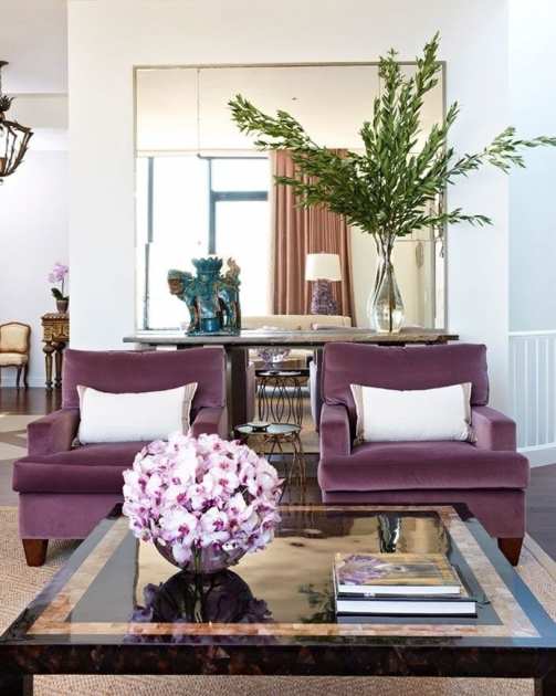 Marvelous Purple Accent Chairs Living Room Image