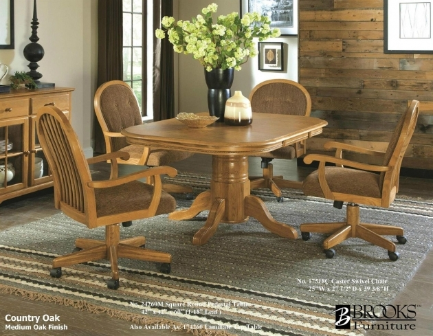 Mesmerizing Kitchen Table With Rolling Chairs Images