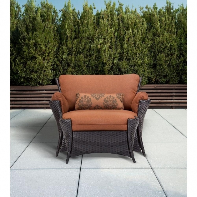 Mesmerizing Patio Chair With Ottoman Set Photo