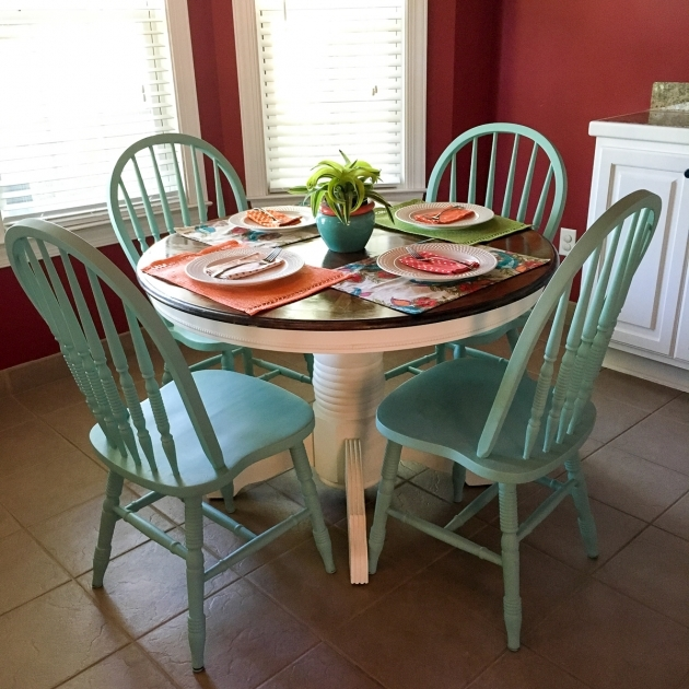 Most Inspiring Chalk Paint Kitchen Table And Chairs Pictures