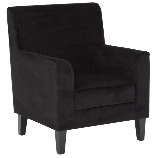 Nice Black Velvet Accent Chair Picture