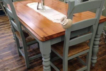 Chalk Paint Kitchen Table And Chairs