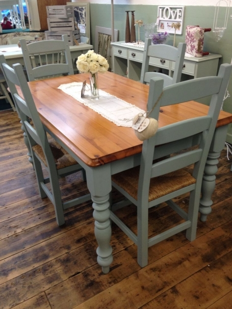 Nice Chalk Paint Kitchen Table And Chairs Images