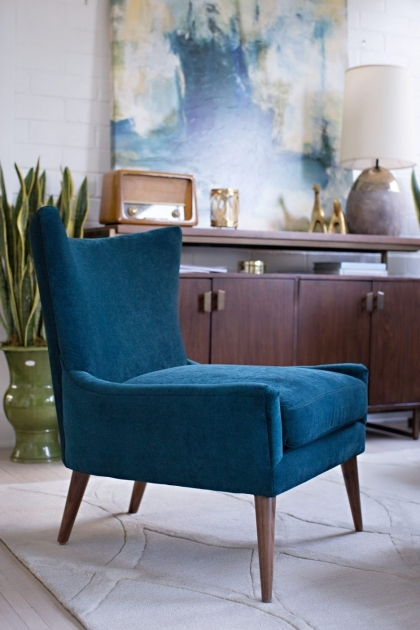 Nice Peacock Blue Accent Chair Photo