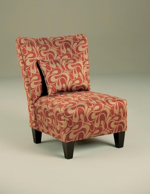 Nice Red Pattern Accent Chair Photo