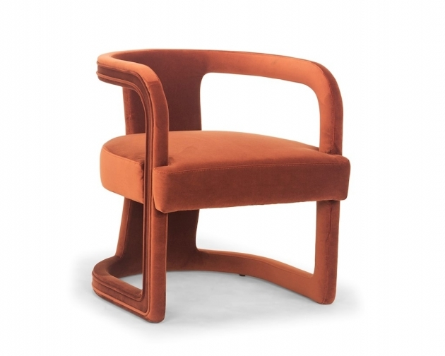 Nice Rust Accent Chair Image