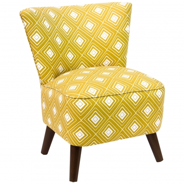 Nice Yellow And White Accent Chairs Image
