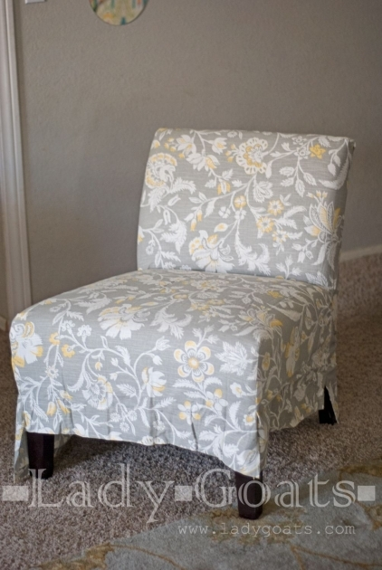 Outstanding Armless Accent Chair Slipcover Photos
