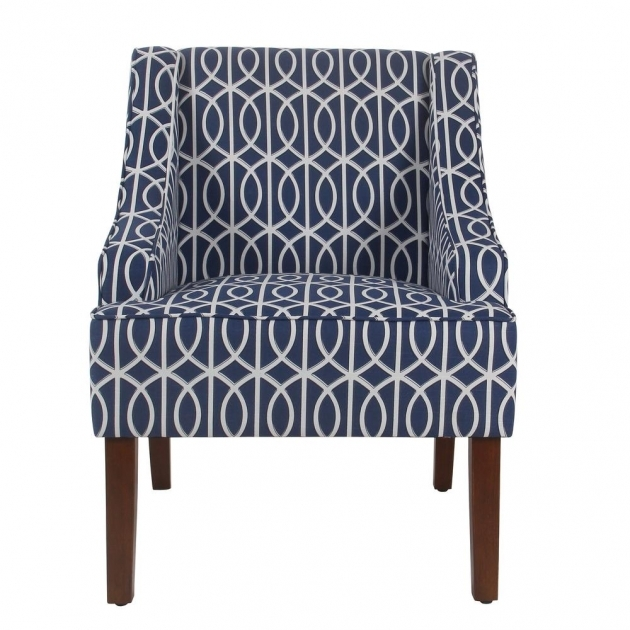 Outstanding Blue And White Accent Chair Photos