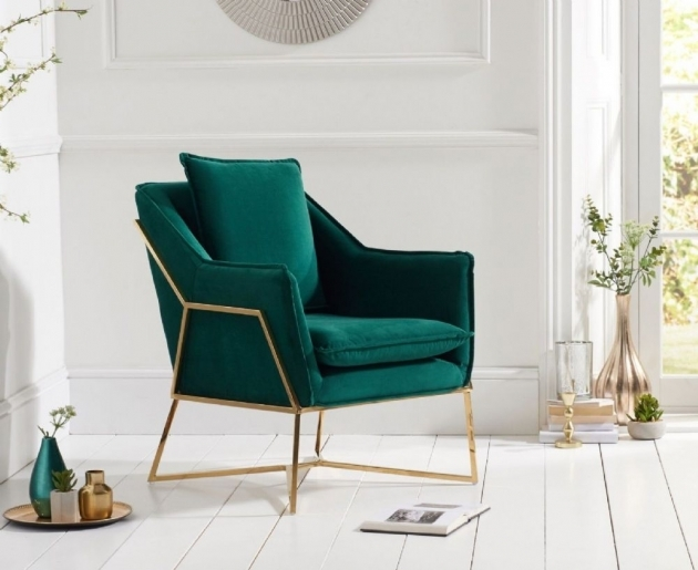 Outstanding Emerald Green Accent Chair Picture
