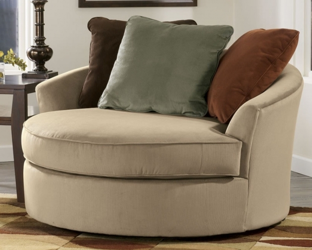 Outstanding Round Swivel Accent Chair Photo