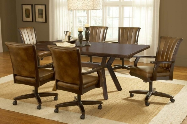 Popular Kitchen Table With Rolling Chairs Image