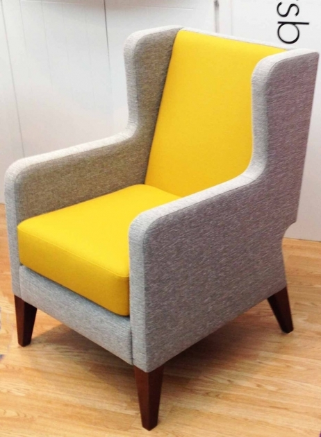 Popular Yellow And Gray Accent Chair Image