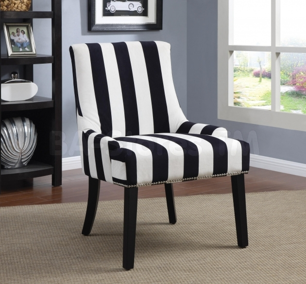 Remarkable Accent Chairs Black And White Picture