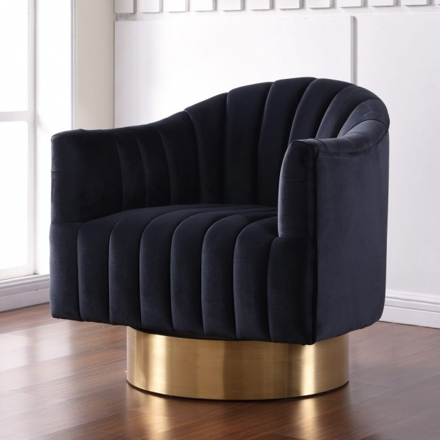 Remarkable Black Velvet Accent Chair Photo
