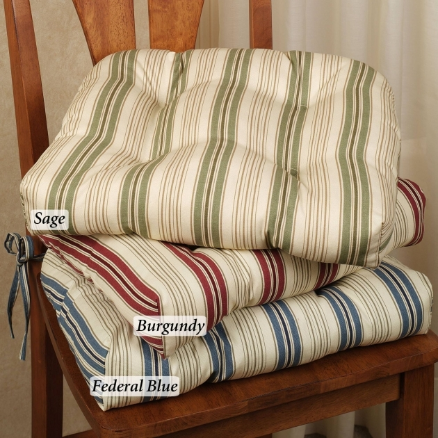 Remarkable Kitchen Chair Pads With Ties Images