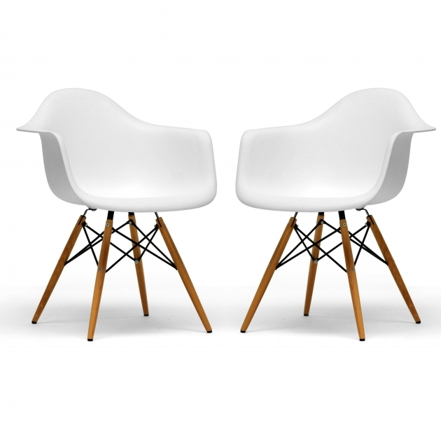 Remarkable Wood Leg White Accent Chairs Photo