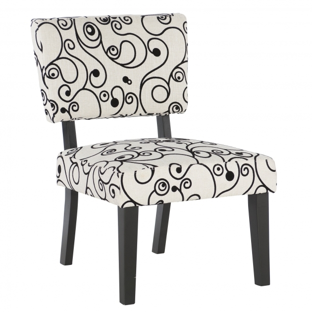 Splendid Black And White Accent Chairs Picture
