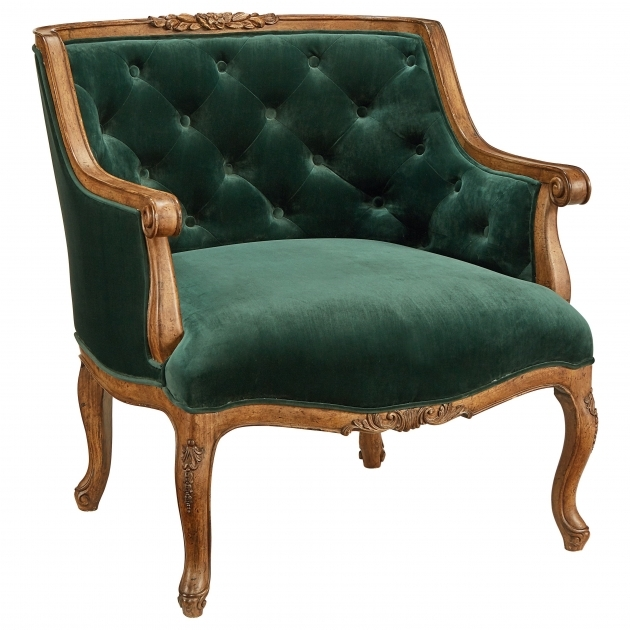 Splendid Emerald Green Accent Chair Pic