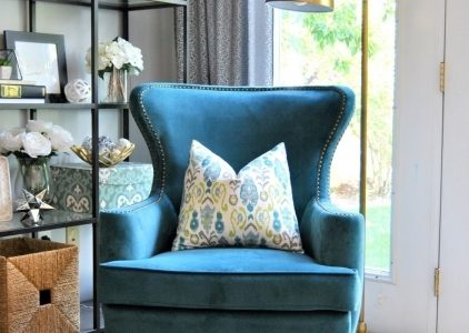 Peacock Blue Accent Chair