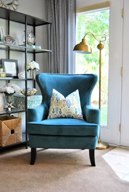 Splendid Peacock Blue Accent Chair Pictures