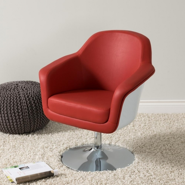 Splendid Red And White Accent Chair Picture