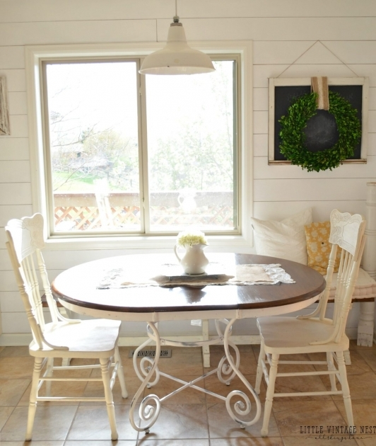 Stunning Chalk Paint Kitchen Table And Chairs Pics