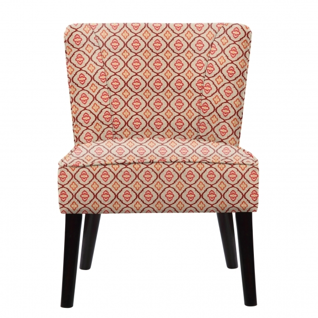 Stunning Red Pattern Accent Chair Pic