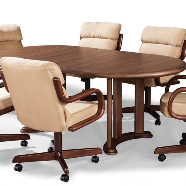 Stylish Kitchen Table With Rolling Chairs Ideas