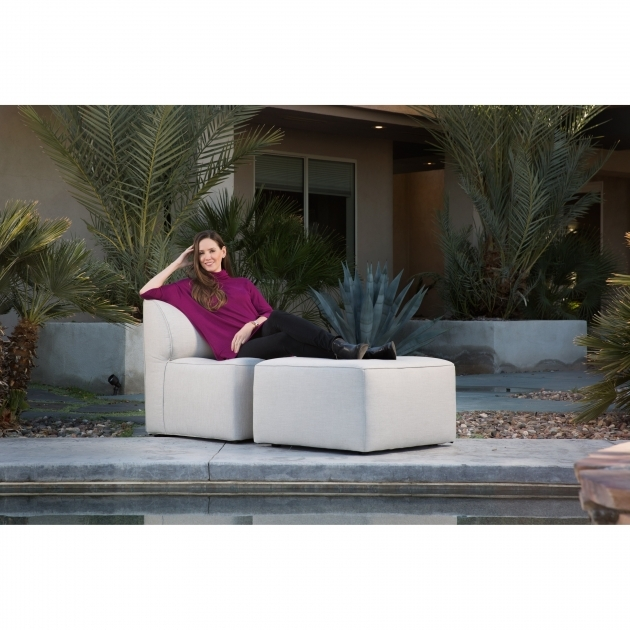 Stylish Patio Chair With Ottoman Set Pictures