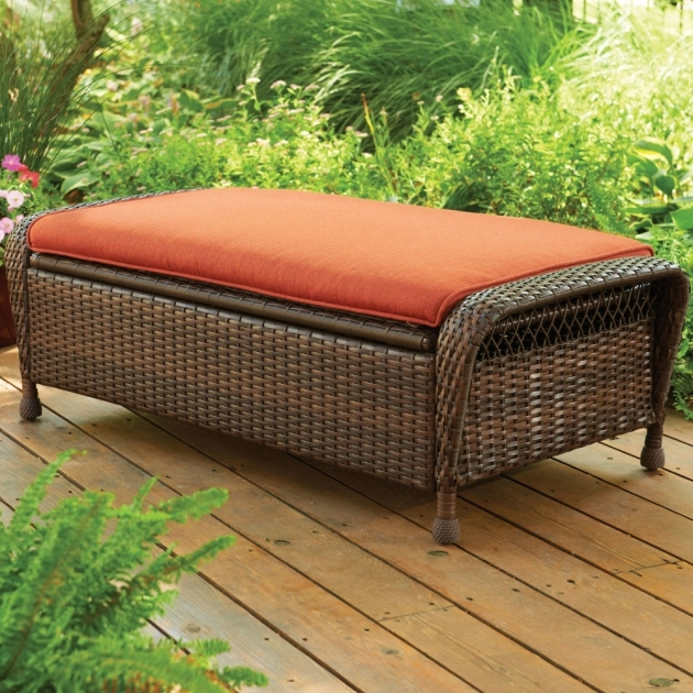 Stylish Patio Chairs With Ottomans Pictures