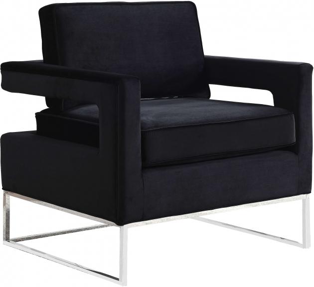 Top Black Velvet Accent Chair Pic