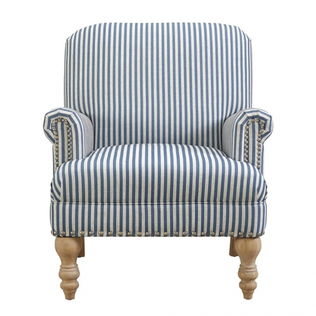 Top Blue And White Accent Chair Picture