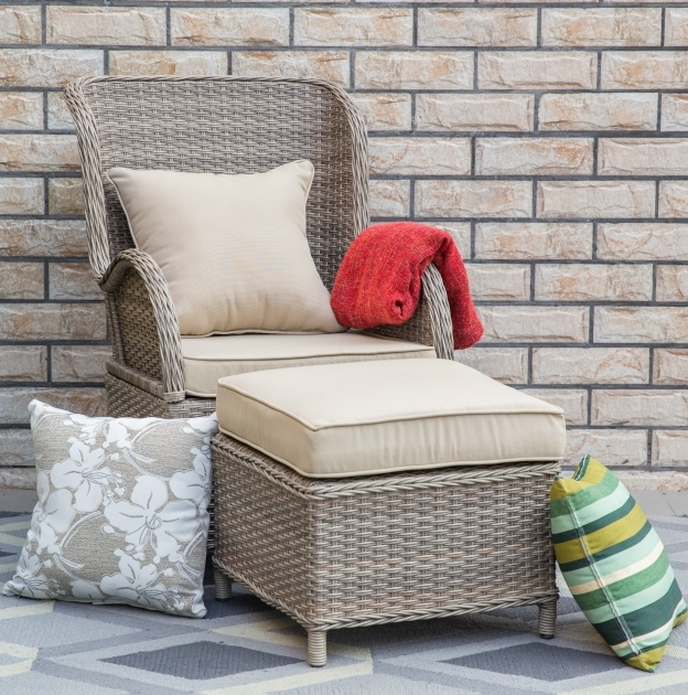 Top Patio Chairs With Ottoman Images