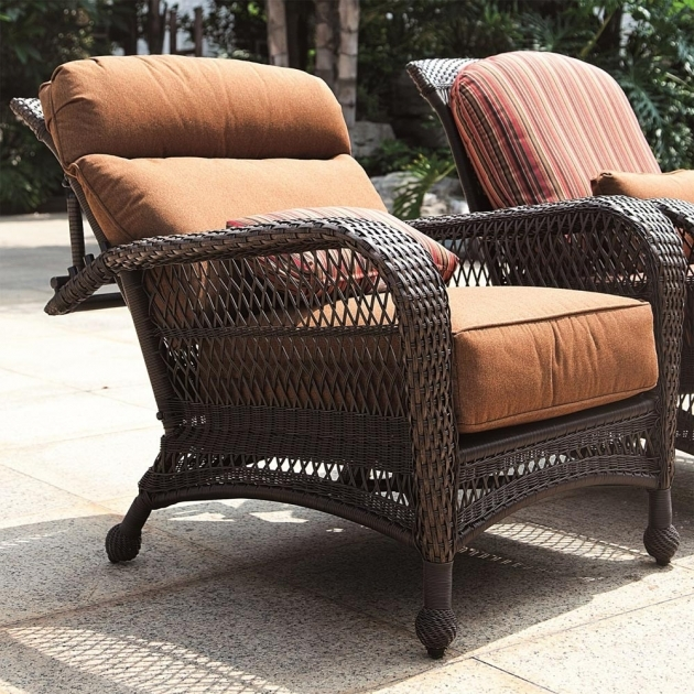 Top Wicker Reclining Patio Chair Images