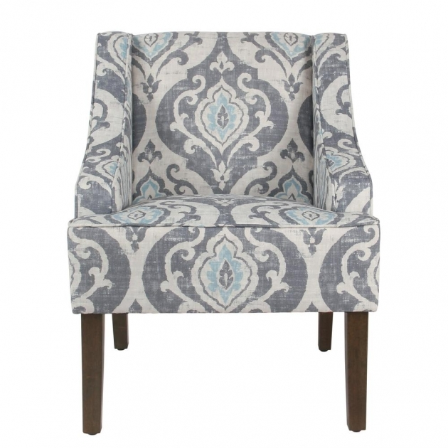 Unique Blue And White Accent Chair Image
