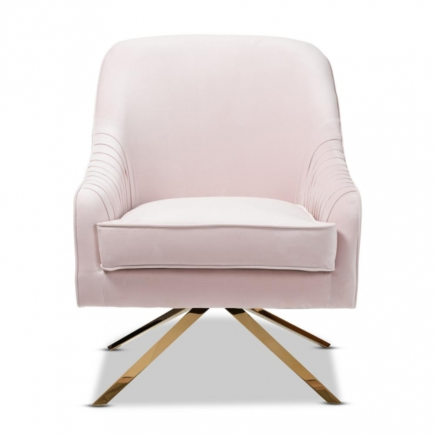 Unique Light Pink Accent Chair Pic