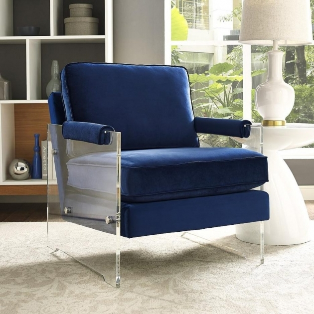 Unique Navy And White Accent Chair Pics