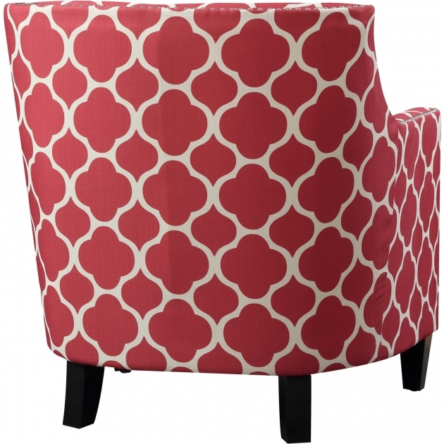 Unique Red Pattern Accent Chair Photo
