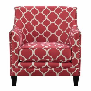Red Pattern Accent Chair