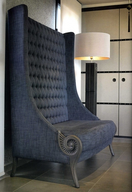 Unique Tall Back Accent Chairs Photos