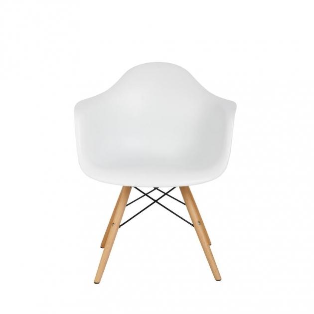 Unique Wood Leg White Accent Chairs Photo
