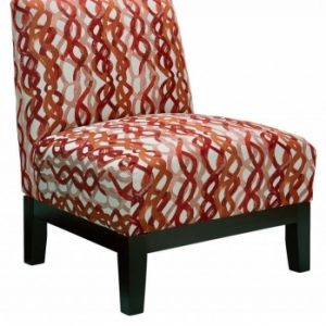 Red And White Accent Chair