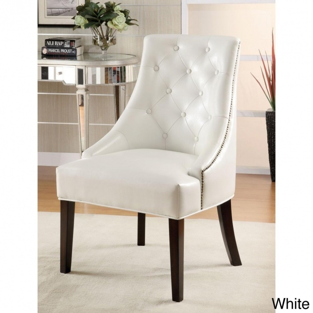 Wonderful White Tufted Accent Chair Picture